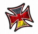 IRON CROSS With Germany German Flag Motif External Vinyl Car Sticker 95x95mm